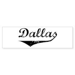Dallas Bumper Bumper Sticker
