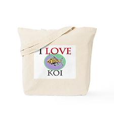 I Love Koi Tote Bag