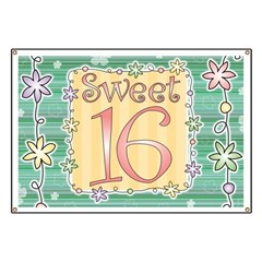 Sweet 16 Birthday Party Banner