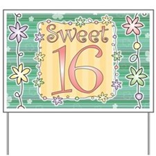 Sweet 16 Birthday Party Yard Sign