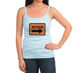 Detour Sign Jr. Spaghetti Tank