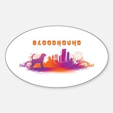 """""""City"""" Bloodhound Oval Decal"""