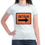 Detour Sign Jr. Ringer T-Shirt