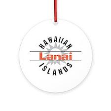 Lanai Hawaii Ornament (Round)