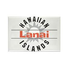 Lanai Hawaii Rectangle Magnet