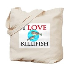 I Love Killifish Tote Bag