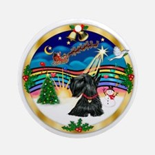 XmasMusic3/ Scottish Terrier 12 Ornament (Round)