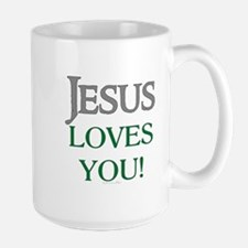 Jesus Loves You Ceramic Mugs