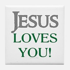 Jesus Loves You Tile Coaster