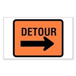 Detour Sign - Rectangle Sticker