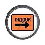 Detour Sign - Wall Clock