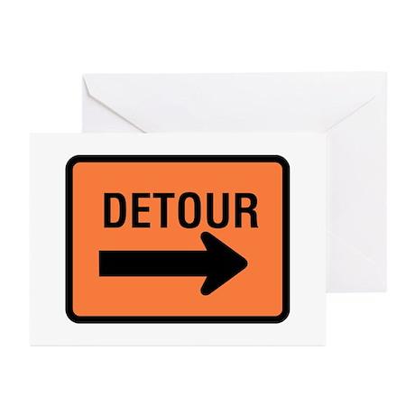 Detour Sign - Greeting Cards (Pk of 10)