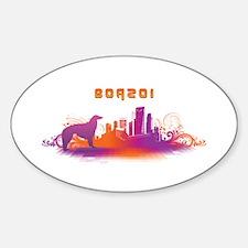 """City"" Borzoi Oval Decal"
