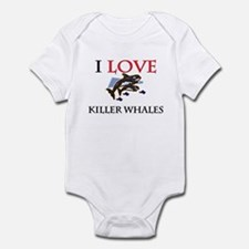 I Love Killer Whales Infant Bodysuit