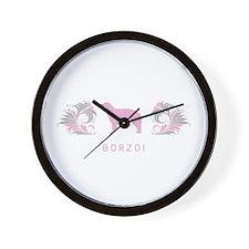 """""""Elegant"""" Borzoi Wall Clock"""