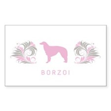 """Elegant"" Borzoi Rectangle Decal"