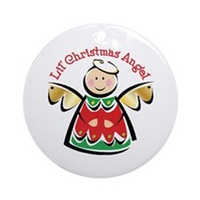 LIL' CHRISTMAS ANGEL Ornament (Round)
