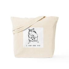 Suspicious Dwarf Hamster Tote Bag
