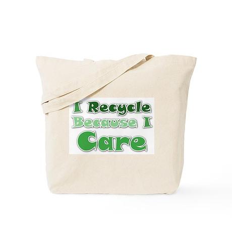 Green Recycling Saying Tote Bag