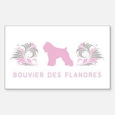 """""""Elegant"""" Bouvier des Flandres Rectangle Decal"""