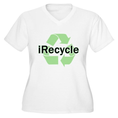 iRecycle Women's Plus Size V-Neck T-Shirt