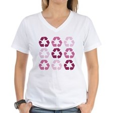 Pink Recycle Signs Shirt