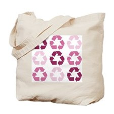 Pink Recycle Signs Tote Bag