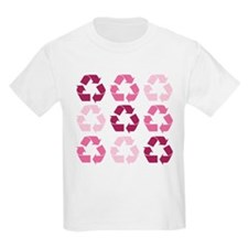 Pink Recycle Signs T-Shirt