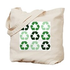Green Recycle Signs Tote Bag