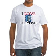 I Love Jellyfish Fitted T-Shirt