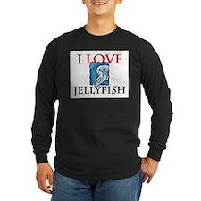 I Love Jellyfish Long Sleeve Dark T-Shirt