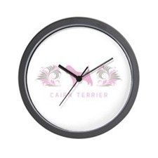"""Elegant"" Cairn Terrier Wall Clock"