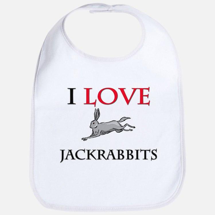 I Love Jackrabbits Bib