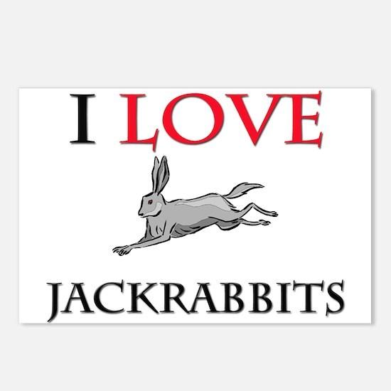 I Love Jackrabbits Postcards (Package of 8)