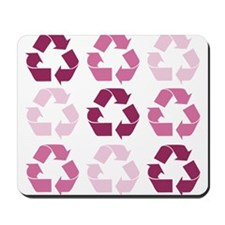 Pink Recycle Signs Mousepad