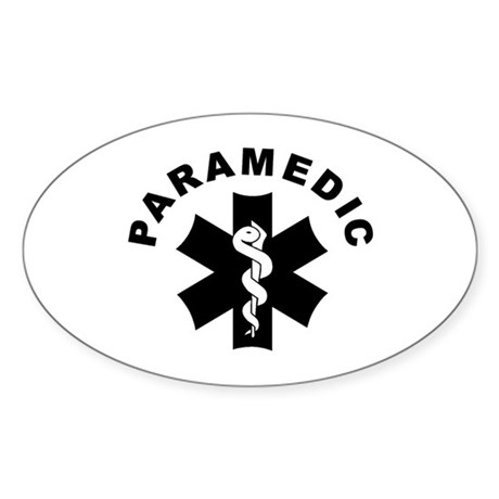 Paramedic Star Of Life Sticker (Oval 50 pk)