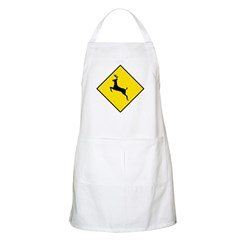 Deer Crossing Sign BBQ Apron