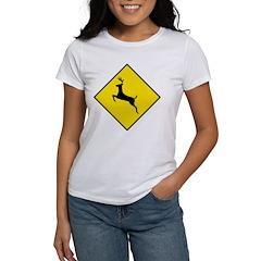 Deer Crossing Sign Women's T-Shirt