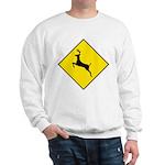 Deer Crossing Sign Sweatshirt