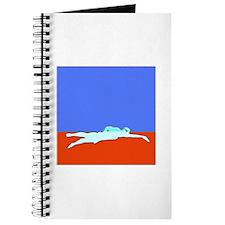 WAX WHITE ON RED SWIMMER Journal