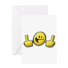 Smiley Fingers Greeting Card