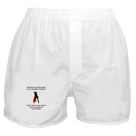 Counseling Superheroine Boxer Shorts