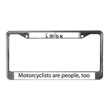 """""""please LOOK"""" License Plate Frame"""