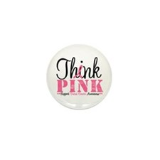 Think Pink Breast Cancer Mini Button (10 pack)