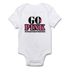Go Pink Breast Cancer Infant Bodysuit