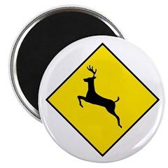 """Deer Crossing Sign - 2.25"""" Magnet (10 pack)"""