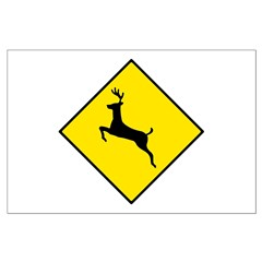 Deer Crossing Sign - Posters