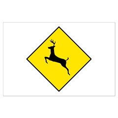 Deer Crossing Sign - Posters