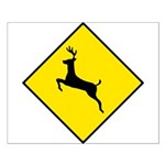 Deer Crossing Sign - Small Poster