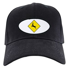 Deer Crossing Sign - Baseball Hat